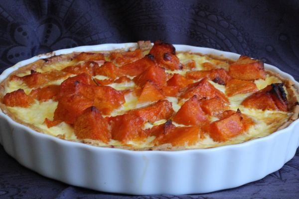 Caramelised Onion, Pumpkin and Feta Tart  | Devil of a Cookbook | Thermomix