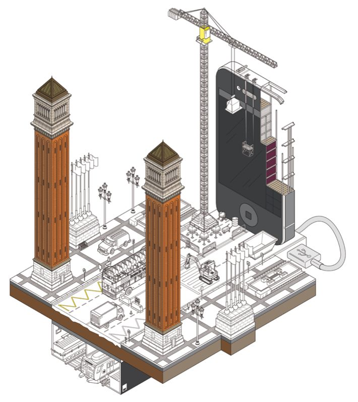 Venician Towers in Barcelona by Miquel Tura Rigamonti, via Behance