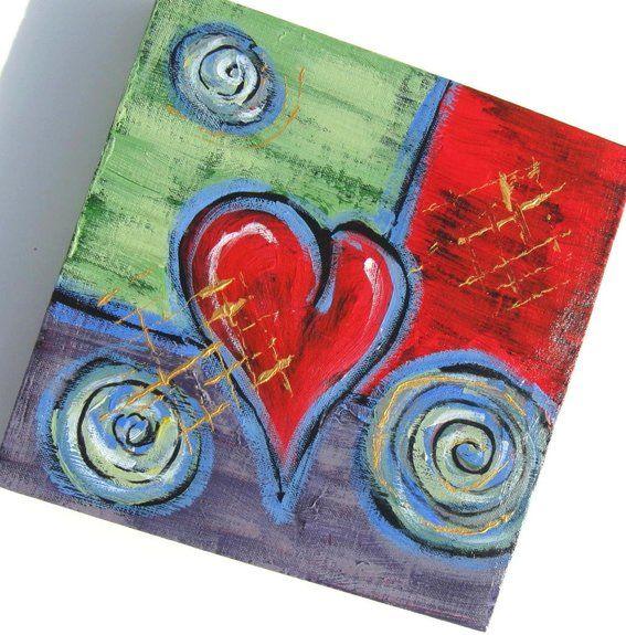 Acrylic canvas painting ideas valentine gift idea for Acrylic canvas ideas