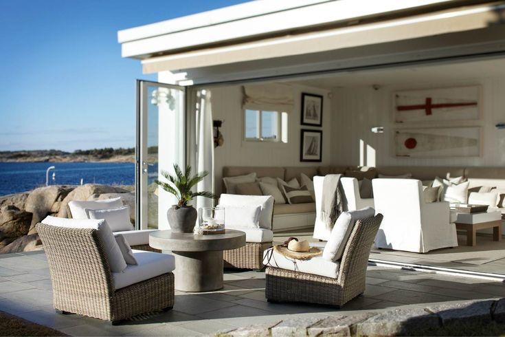 Slettvoll seaside house holiday summer terrace  Scandinavia archipelago
