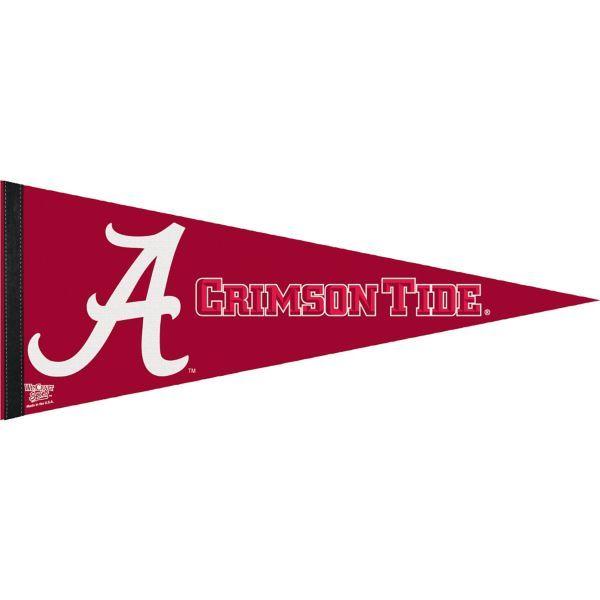 Alabama Crimson Tide Pennant Flag 29in X 12in Alabama Crimson