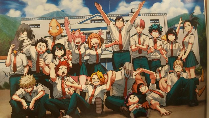 I LOVE THEIR CLASS SO MUCHa sdlsdj and look at iida wHAT A DORK also izuku and shoucchan standing next to each other AND KASLDJSLDJLKJ i love them so much