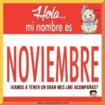 Bonitas imágenes con frases de Hola Noviembre, Felíz Noviembre y Bienvenido Noviembre para compartir