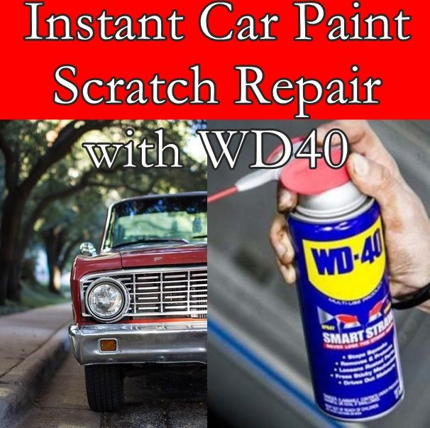 Instant Car Paint Scratch Repair With WD40