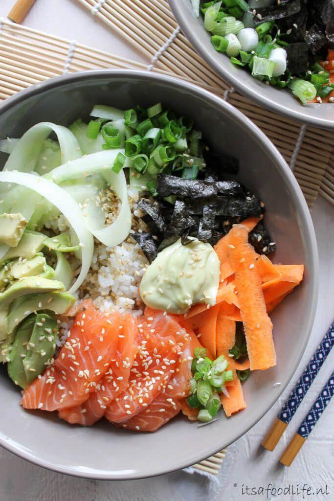recept voor Sushi in een kom. Super makkelijk te maken sushi - It's a Food Life