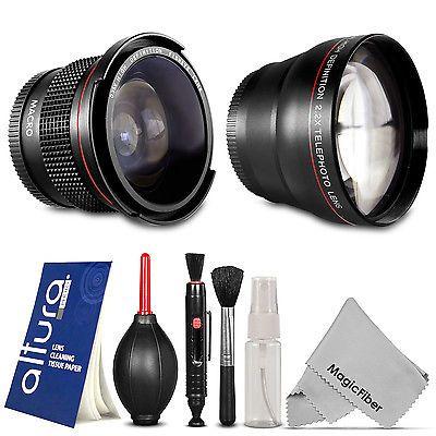 58MM Altura Photo Fisheye & Telephoto Lens for Canon 1200D 750D 700D 600D 100D