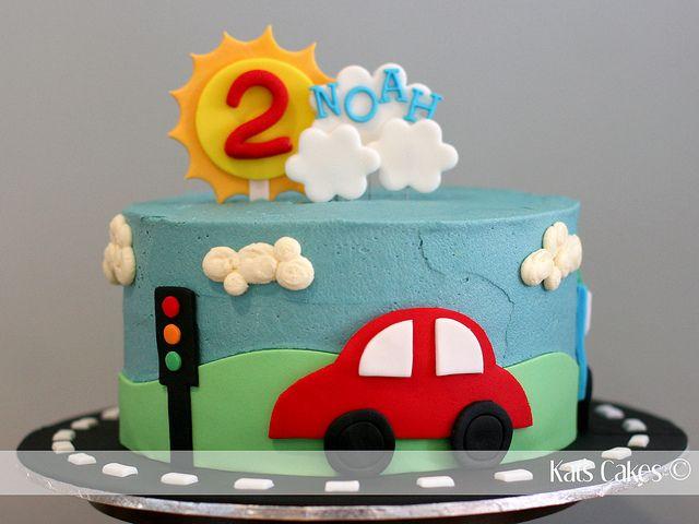 car cake - Grant's 1st b-day?
