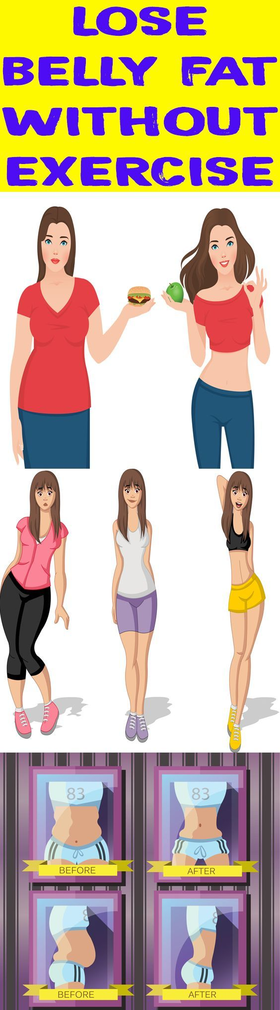 These tips can help you reduce up to 34 inches of belly without exercise