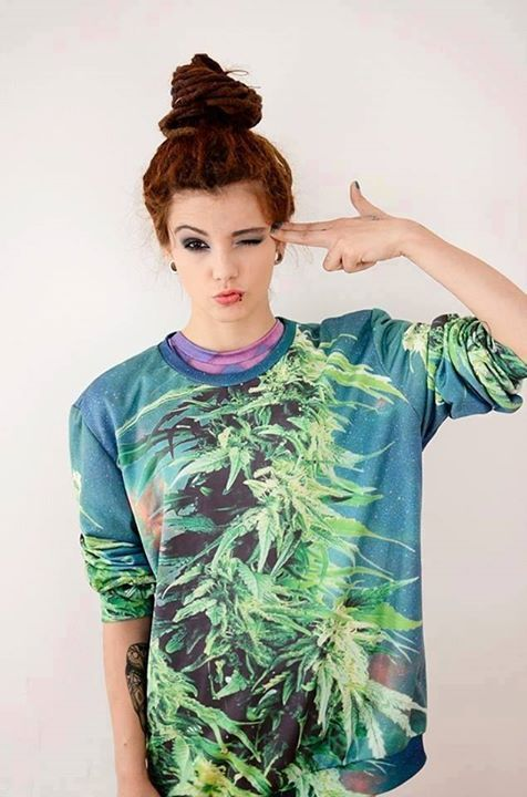 Chill out with cool all-over-print Ganja Sweatshirt from Boom!   Like it? Wanna try? Check boom-wear.com