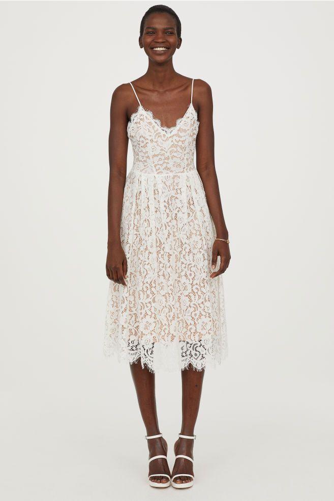 c4b675f2305e3c4 Кружевное платье - Белый - | H&M RU 1