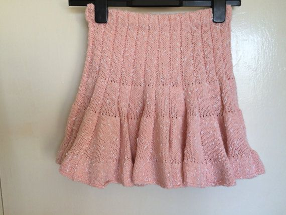 Hand Knitted Girls Skirt  Handmade Skirt  Pink And by MarianaPandi