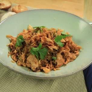 Stekt ris med kyckling och shiitake - Recept från Mitt kök - Mitt Kök