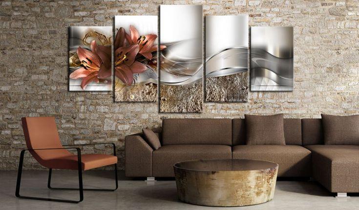 Obraz na plátně - Lily Marsala and Abstraction #canvas #prints #obraz #decor #inspirace #home #barvy #pictureframes #flowers