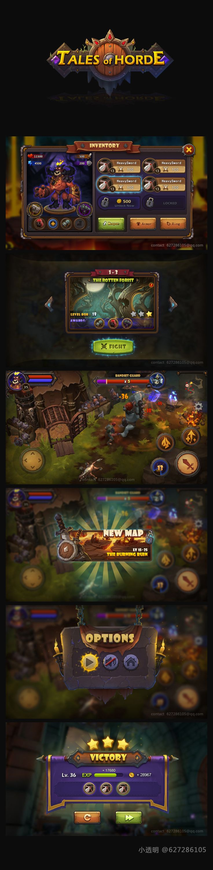 RPG game UI