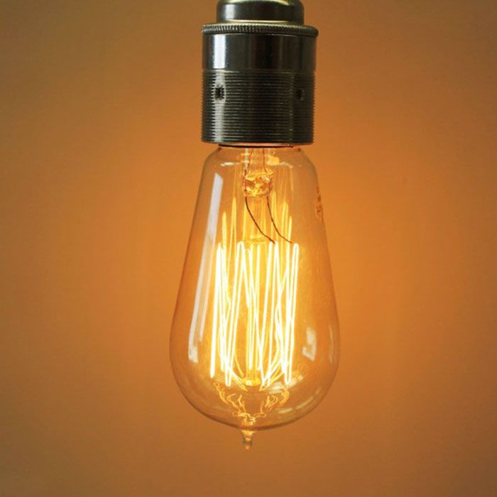 Cool Light Bulbs hand blown glass with thomas edison light bulbs above island