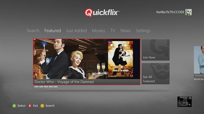 While the US Xbox Live service can access Netflix, Hulu Plus, and Amazon Instant Video, Quickflix is the only movie streaming service available locally. It joins ABC iView and SBS On Demand in offering Australian video.