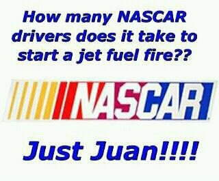 lol. NASCAR fan humor.  Love, love love it!!!