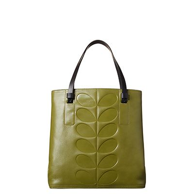 Orla Kiely | USA | bags | Mainline bags | Embossed Stem Willow Bag (16PBEMS067) | olive green