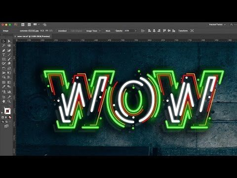 How to Make a Neon Text Effect in Illustrator | By VectorTwist - YouTube