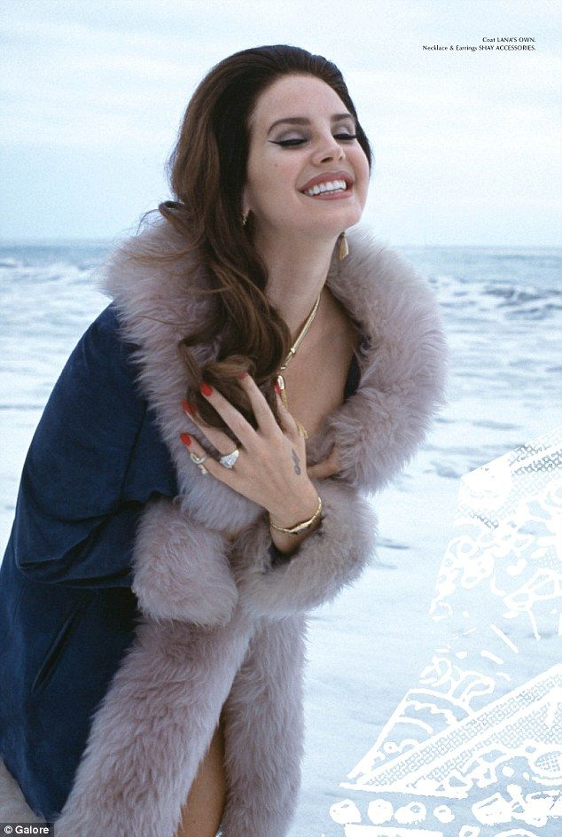 Lana Del Rey puts her cleavage on display in sultry photos #dailymail