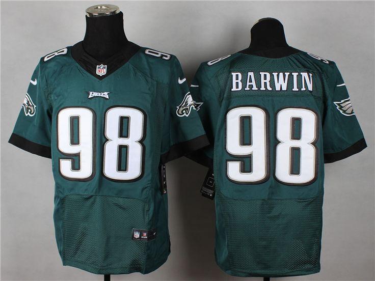 Men's NFL Philadelphia Eagles #98 Barwin Green Elite Jersey
