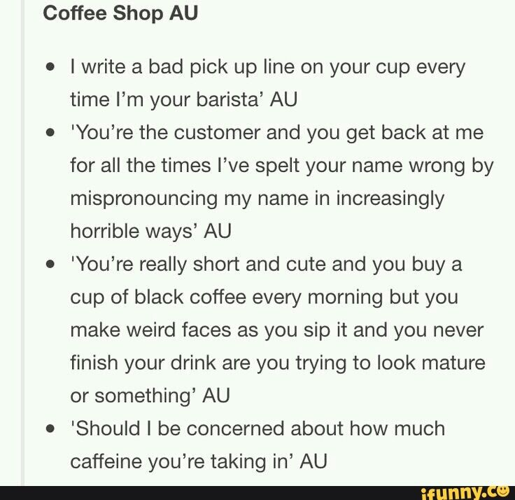 LOL!!! :) << This just instantly reminded me of Keith and Lance. And Lance as the barista
