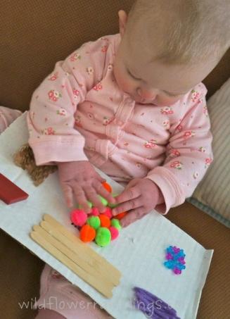 Tablero de texturas para bebe - Baby Sensory Board