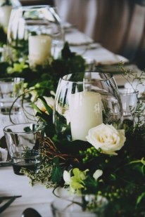 Hurrican vases and candles for hire