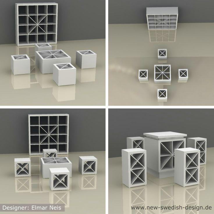 #IKEA #Hack #DIY #Expedit #Sitzgruppe // Designer: Elmar ...