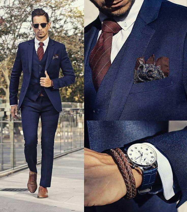 The 25  best Navy blue suit combinations ideas on Pinterest | Mens ...