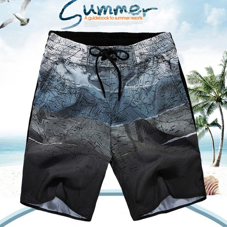2016 New Mens Summer Style Beach Shorts Plus Size High Quality Man Chic Boardshorts
