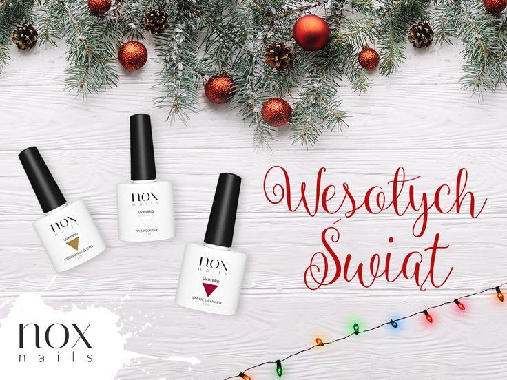 Spokojnych i Wesołych Świąt Bożego Narodzenia spędzonych w ciepłej atmosferze i rodzinnym gronie, życzy zespół NOX Nails! 🎄