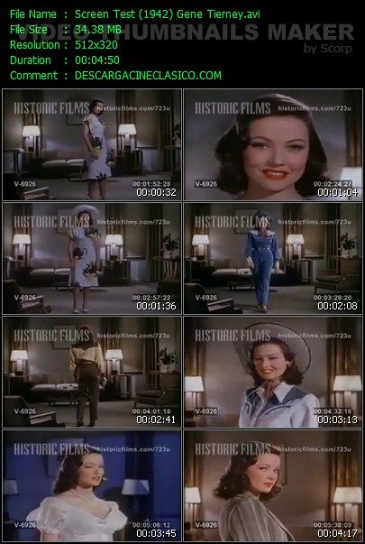 Screen Test de Gene Tierney 1942