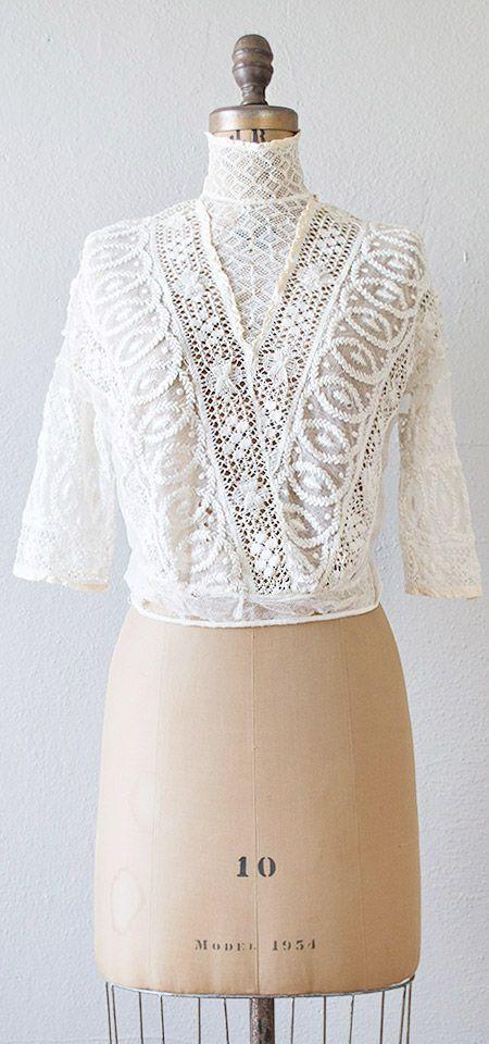 Antique Victorian lace crochet blouse   #antique #Victorian #lace #antiqueblouse