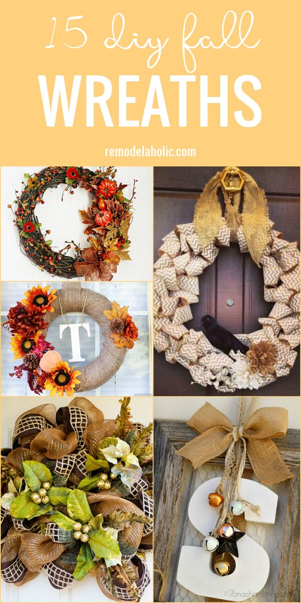 15 DIY Fall Wreaths to Decorate Your Home