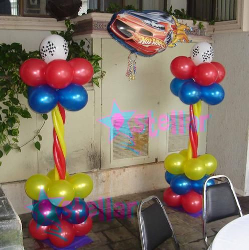 decoracin de fiestas infantiles de hot wheels imagui