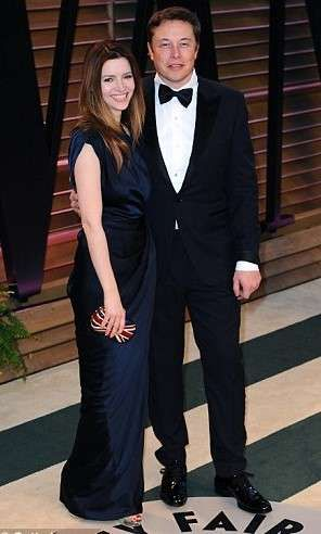 Elon Musk and his wifeTalulah Riley divorced