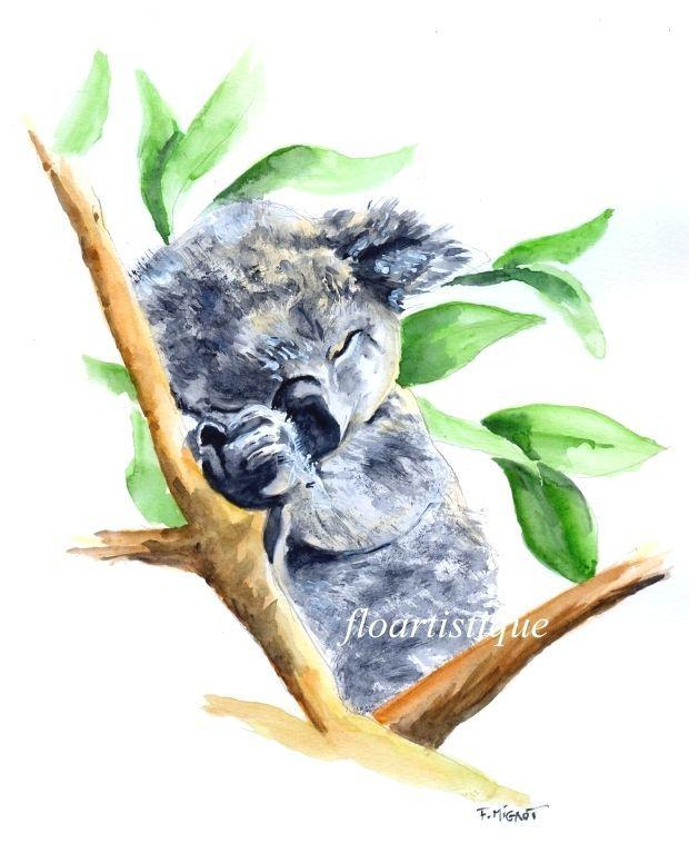 Koala Pour Aquarelle Koala Pour Deco Chambre Enfant Peintures