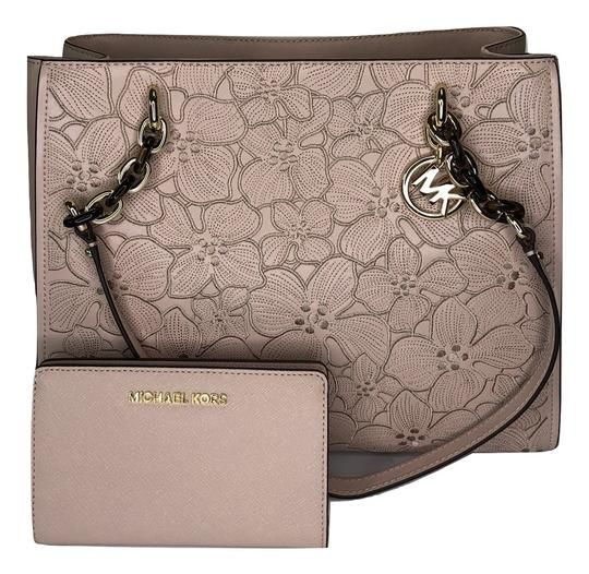 218dafe33916 Michael Kors Sofia Large Tote Bundled With Ballet Flower Leather ...