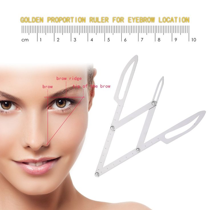 Stainess Steel Eyebrow Positioning Measurement Ruler Tattoo - Tomtop.com
