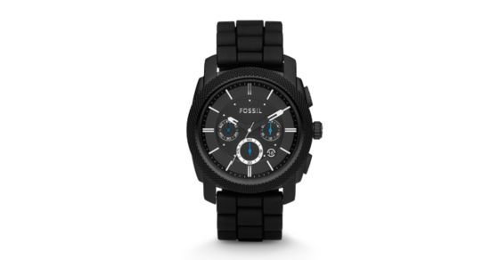 Machine Chronograph Black Silicone Watch - Fossil