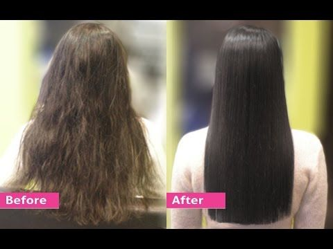 Permanent Hair Straightening at home with all natural ingredients | Silk & shine - YouTube