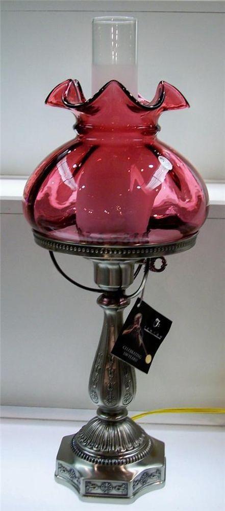 54 Best Fenton Cranberry Lamps Images On Pinterest