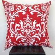 Red Damask Cushion $39