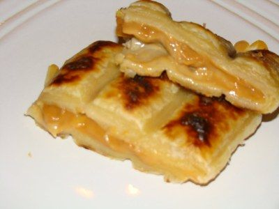 Pear, Almond, and Caramel Braai Pie.