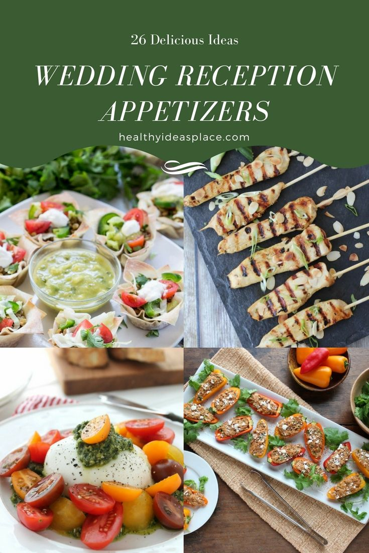 25 best ideas about wedding reception appetizers on