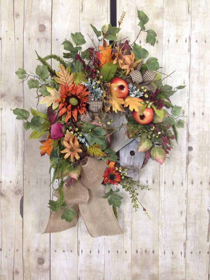 A personal favorite from my Etsy shop https://www.etsy.com/listing/525603136/fall-wreaths-fall-front-door-wreath
