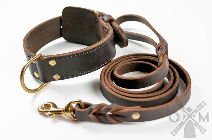 Geflochtenes Halsband mit Weicher Polsterung für Große Hunderassen (Modell OldMill-C43) von OldMillStore auf Etsy https://www.etsy.com/de/listing/247277582/geflochtenes-halsband-mit-weicher