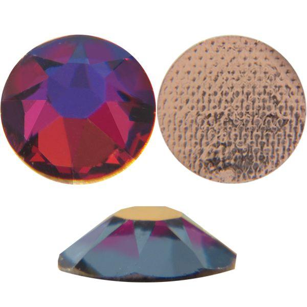 Swarovski 2078 XIRIUS Rhinestones Hot Fix, Crystal Volcano, Round, ss12 foiled