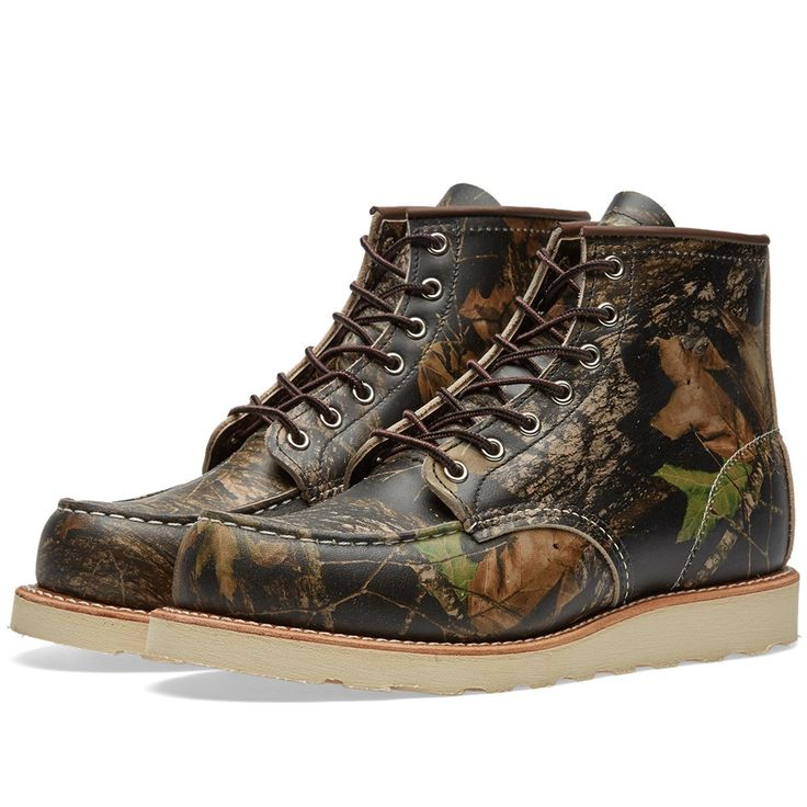 "Red Wing 8884 Heritage Work 6"" Moc Toe Boot (Real Tree)"